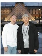 The Da Vinci Code Movie Stills:  Dan Brown and Ron Howard