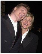 HBO Spago Emmy Party 2002: Conan O'Brien with Ellen Degeneres