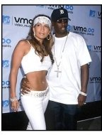 Jennifer Lopez and Sean Combs at the Video Music Awards 2000