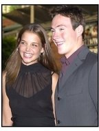 Chris Klein with Katie Holmes at the American Pie 2 premiere