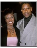 Denzel Washington and wife Pauletta at The Hurricane premiere