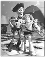 """""""Toy Story"""" Movie still: Buzz Lightyear and Woody"""