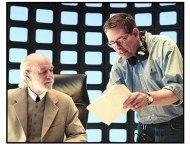 """Scary Movie 3"" Movie Still: George Carlin and Director David Zucker"