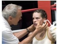 Million Dollar Baby Movie Still: Clint Eastwood and Hilary Swank