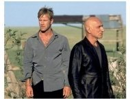 """Suspect Zero"" Movie Still: Aaron Eckhart and Ben Kingsley"