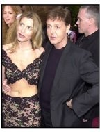 Academy Awards 2002 Mens Fashion: Paul McCartney and Heather Mills