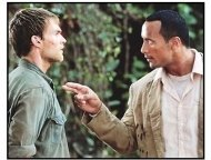"""The Rundown"" Movie Still: The Rock and Seann William Scott"
