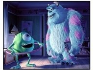 Monsters, Inc. movie still: Sulley and  Mike