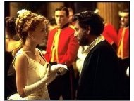 The Four Feathers movie still: Kate Hudson and director Shekhar Kapur discuss a scene while shooting in England on the set of The Four Feathers