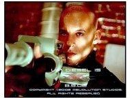 XXX movie still: Vin Diesel as Xander Cage/ Triple X
