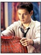 Spider-Man movie still: Tobey Maguire as Peter Parker in Spider-Man