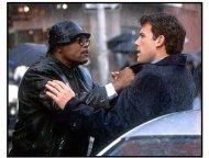 Changing Lanes movie still: Samuel L. Jackson as Doyle Gipson and Ben Affleck as Gavin Banek