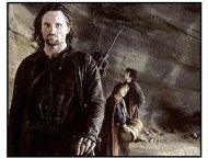 The Lord of the Rings: The Fellowship of the Ring movie still: Aragorn (Viggo Mortensen)