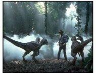 Jurassic Park III Movie Still: Sam Neill and raptors
