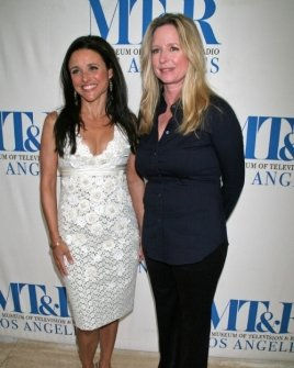 Julia Louis-Dreyfus and Kari Lizer
