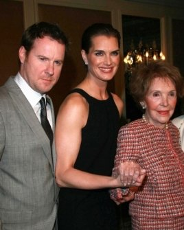 Chris Henchy with Brooke Shields and Nancy Reagan