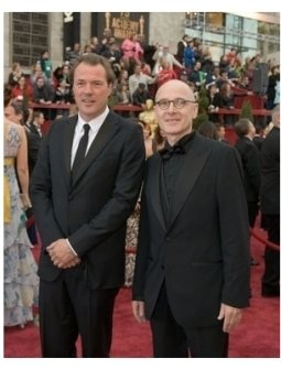 "Stars of Nominated Foreign Language Film, ""The Lives of Others,"" Sebastian Koch and Ulrich M?he arrive at the 79th Annual Academy"
