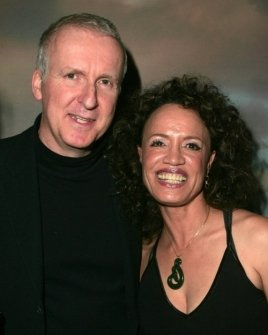 James Cameron and Rena Owen