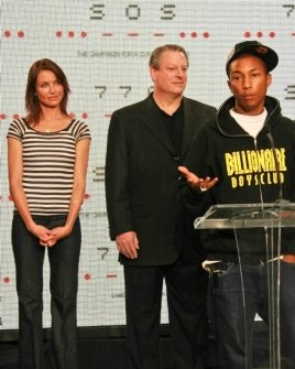 Cameron Diaz with Al Gore and Pharrell Williams