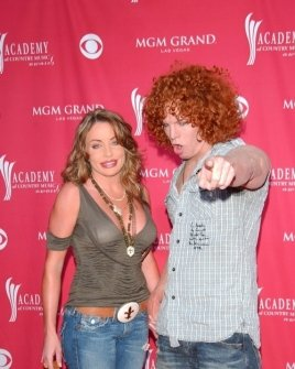 "Scott ""Carrot Top"" Thompson and friend"