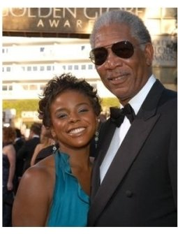 Morgan Freeman on the red carpet at the 62nd Golden Globe Awards