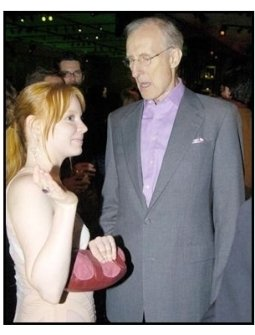 "Lauren Ambrose and James Cromwell on the red carpet at the ""Six Feet Under Premiere""-ONE TIME USE ONLY"