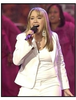 "Diane Degarmo performs on the  on the ""American Idol"" finale"