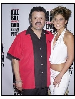 "Paul Rodriguez and Leslie Gomez at the ""Kill Bill Vol. 1"" DVD Release Party"