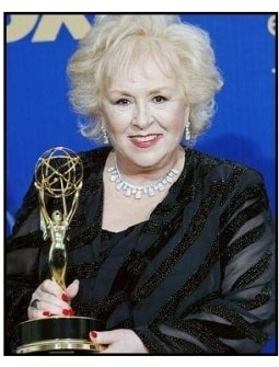 Doris Roberts backtage at the 2003 Emmy Awards