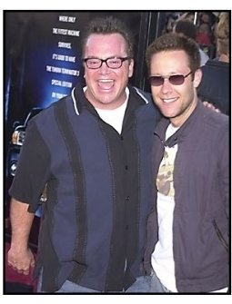 """Tom Arnold and Michael Rosenbaum at the """"Terminator 3: Rise of the Machines"""" premiere"""