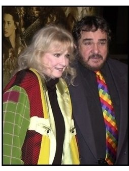John Rhys-Davies and friend at the The Lord of the Rings: The Fellowship of the Ring premiere