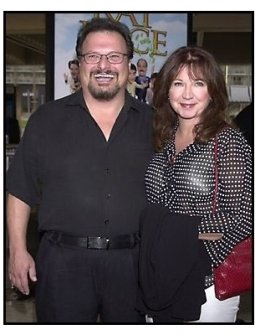 Wayne Knight and wife at the Rat Race premiere