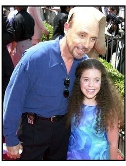 Hector Elizondo with granddaughter at The Princess Diaries premiere