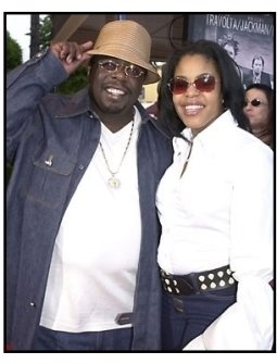 Cedric the Entertainer and date at the Swordfish premiere