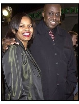 Bill Duke and date at the Exit Wounds premiere