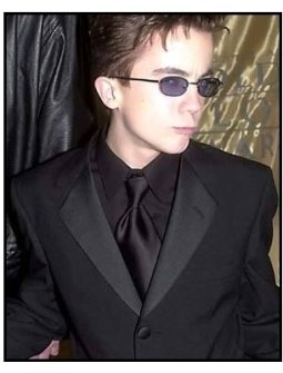 Frankie Muniz at a 2001 Golden Globe Awards Universal / DreamWorks Party