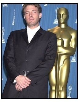 Ben Affleck backstage at the 2001 Academy Awards