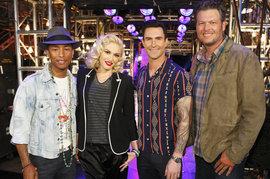 Pharrell, Gwen Stefani, Adam Levine, Blake Shelton