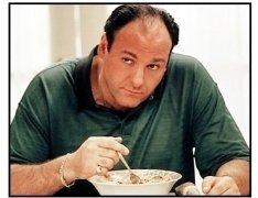 """James Gandolfini in """"The Sopranos"""""""