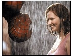 Spider-Man movie still: Tobey Maguire and Kirsten Dunst in Spider-Man