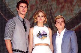 Liam Hemsworth, Jennifer Lawrence, Josh Hutcherson