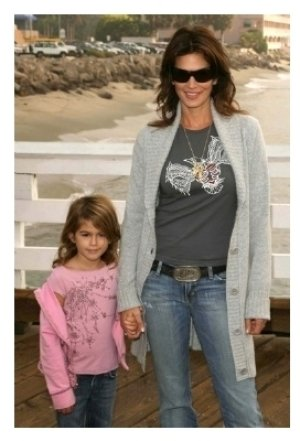 Cindy Crawford and her daughter