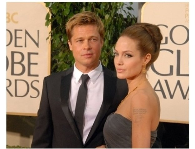 64th Annual Golden Globes Awards Red Carpet: Brad Pitt and Angelina Jolie