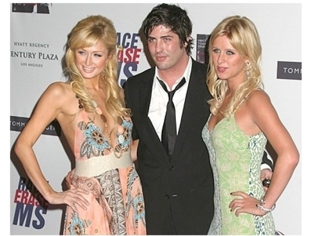 Paris Hilton, Brandon Davis and Nicky Hilton
