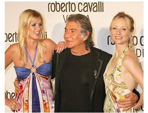 Nicky Hilton, Roberto Cavalli and Anne Heche