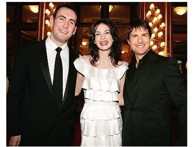 Pete White, Michelle Monaghan and Tom Cruise at the Rome Premiere of  Mission: Impossible III