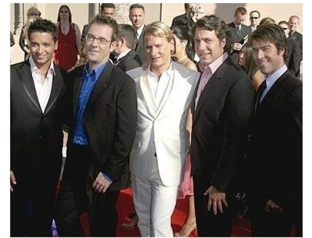 Cast of Queer Eye for the Straight Guy at the 2004 Emmy's Creative Arts Awards