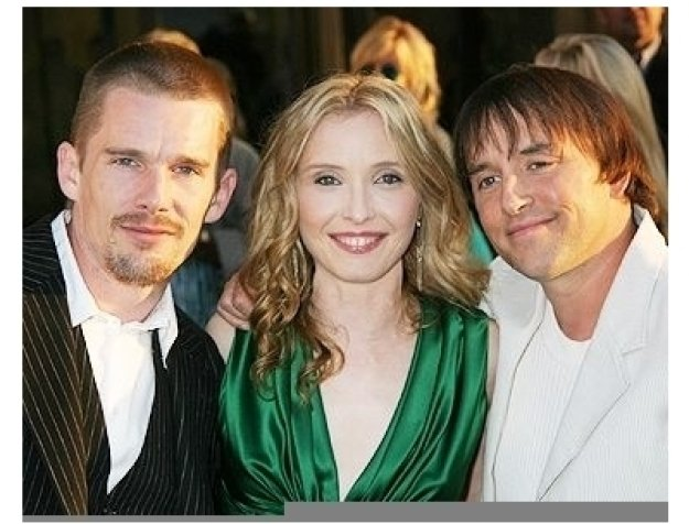 "Ethan Hawke, Julie Delpy and Director Richard Linklater at the ""Before Sunset"" Premiere"