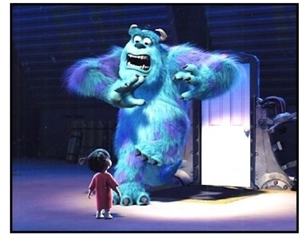 """""""Monsters Inc.""""  Movie Stills: Sulley and Boo"""