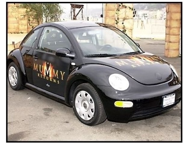 The Mummy Returns DVD release event: Members of the public had a chance to win a 2002 Volkswagen Beetle